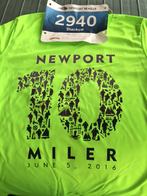 Race bib and T-shirt