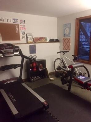 Treadmill unfolded